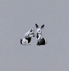VCA. #VanCleef&Arpels #VCA #Noah'sArk #ArchedeNoé #Brooch #Broche #Clips #Animals #Animaux #HighJewellery #FineJewelry #Rabbits #Lapins #Gouaché #JewelryDesign