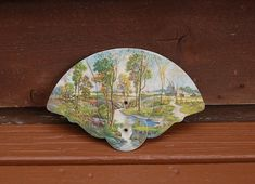 Your place to buy and sell all things handmade Lakeview Cabin, Folded Hands, Cottage Art, Paper Fans, Lake View, Vintage Advertisements, Maine, Gallery Wall, Advertising