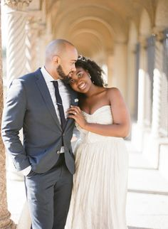 Mallory and Bradley went to a monastery in Washington, DC to take these dreamy engagement photos.   Photo by Kristen Lynne Photography