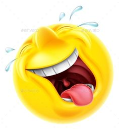 Buy Laughing Emoji Emoticon by Krisdog on GraphicRiver. A very happy laughing emoji emoticon smiley face character laughing so hard tears are shooting out Smiley Emoji, Animated Smiley Faces, Funny Emoji Faces, Animated Emoticons, Emoticon Faces, Funny Emoticons, Emoticons Text, Laughing Emoticon, Laughing Face