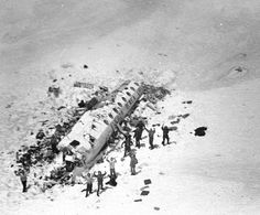 October 13, 1972: Uruguayan Air Force Flight 571,a chartered flight carrying 45 people,including a rugby union team, their friends, family and associates,crashes in the Andes mountains.