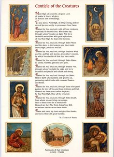 Canticle of the Creatures ~ St Francis of Assisi