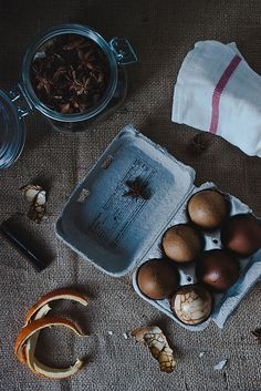 Chinese tea eggs. by Two Red Bowls, via Flickr