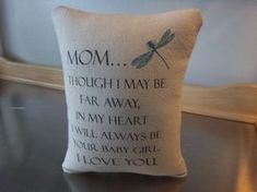 Mom gift daughter to mom gift mom pillow by SweetMeadowDesigns