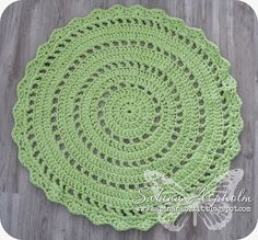 {Crocheted rug}