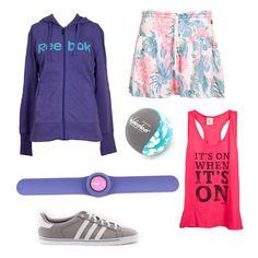 #EstiloMVD Verano deportivo! Cuál es tu preferido? Canguro de Reebok, reloj y pelota de Replay, falda y musculosa de Rip Curl, zapatillas de Adidas.