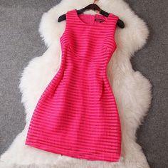 Fabric: Cotton  Color: Rose, Black  Size Chart : (CM)  S: Length 79, Bust 80-84, Waist 68  M: Length 80, Bust 84-88, Waist 72