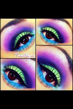 Color neon makeup !