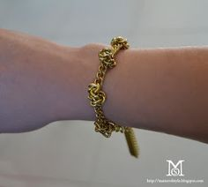 Knotted chain bracelet