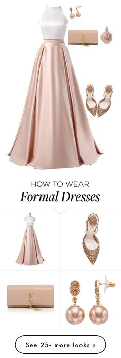 """""""Untitled #163"""" by xvintageglamourx on Polyvore featuring Yves Saint Laurent, Valentino, René Caovilla and Simply Vera"""
