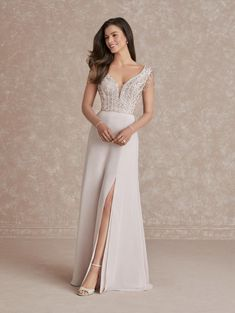 Adrianna Papell 40278 Sheer Long Sleeve Gown Sheer Sleeve Dress, Long Sleeve Gown, Dresses With Sleeves, Evening Dresses Online, Cheap Evening Dresses, Long Formal Gowns, Formal Dress, Mother Of The Bride Gown, Beautiful Prom Dresses