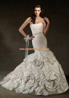 Robe de mariée sirène fleurs avec ceinture