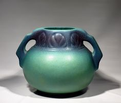 VAN BRIGGLE POTTERY, ming blue, 1930s