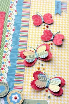 Happy National Scrapbook Day and a GIVEAWAY! 2019 butterflies with a heart punch The post Happy National Scrapbook Day and a GIVEAWAY! 2019 appeared first on Scrapbook Diy. Mini Album Scrapbook, Scrapbook Cards, Deco Tape, Paper Punch Art, Butterfly Crafts, Butterfly Mobile, Butterfly Wings, Craft Punches, Paper Butterflies
