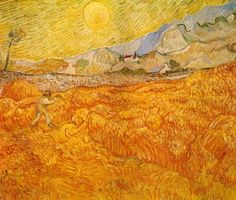 Wheat Field behind Saint Paul Hospital with a Reaper Vincent van Gogh, 1889