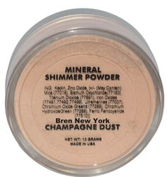 Bren New York Cosmetics Shimmer Eyeshadow, Mineral Powder, Unique Lighting, Iron Oxide, Dyes, Face And Body, Makeup Cosmetics, Fragrances