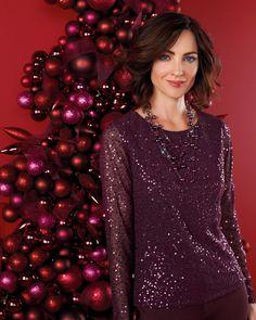 Ornate sequin blouse #ColdwaterCreek