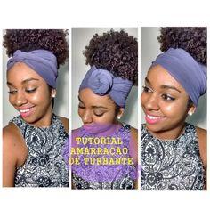 #1 AMARRAÇAO DE TURBANTE SIMPLES & FÁCIL . Curly Hair Care, Curly Hair Styles, Natural Hair Styles, Bandana Hairstyles, Black Girls Hairstyles, Love Hair, My Hair, Turbans, Big Chop Natural Hair