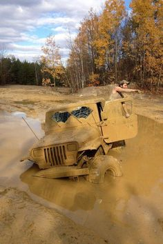#Jeep up a creek, without a paddle