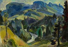 Wissbachtal with Alpstein by Carl Walter Liner Paintings, Art, Auction, Idea Paint, Stones, Art Background, Paint, Painting Art, Kunst