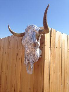 Rhinestone Longhorn Skull | $475 + shipping & handling | https://www.etsy.com/listing/207645281/rhinestone-longhorn-skull?