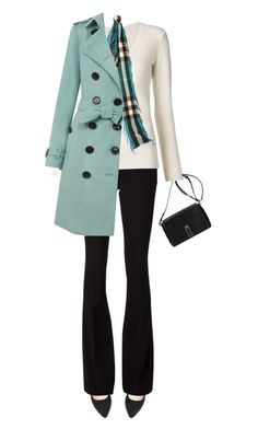 """""""Burberry Cashmere Trench Coat"""" by jaycee0220 ❤ liked on Polyvore featuring Forever 21, Proenza Schouler, Philipp Plein, Chloé and Burberry"""