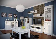 #bílýnábytek #obývacípokoj  Inspirujte se, jak může vypadat obývací pokoje v provensálském stylu. Série Belluno Elegante je u našich zákazníků velmi oblíbená.