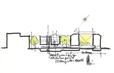 Renzo Piano Building Workshop - Projects - By Type - Renovation and expansion of the Isabella Stewart Gardner Museum Renzo Piano, Architecture Concept Diagram, Architecture Sketchbook, Chinese Architecture, Sustainable Architecture, Modern Architecture, Conceptual Sketches, Urban Design Concept, Architectural Section