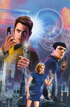 The lead-up to the next STAR TREK film continues here, in an all-new adventure produced in association with Roberto Orci! Captain Kirk and the crew of the Enterprise find themselves … Star Trek 2009, Star Trek Logo, Star Wars, Fiction Film, Science Fiction, Star Trek Reboot, Star Trek Captains, Star Trek Characters, Star Trek Beyond