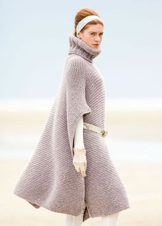 Lana Grossa PONCHO Alta Moda Superbaby - FILATI Handstrick No. 65 - Modell 23…