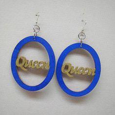 Afrocentric Wood Earring Wood Queen  Hoop Earrings, Hoop Earrings, Dangle Earrings, Ethnic Earrings,