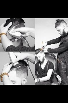 Fade undercut! Wish my son's hair combed back so I could give him this haircut.
