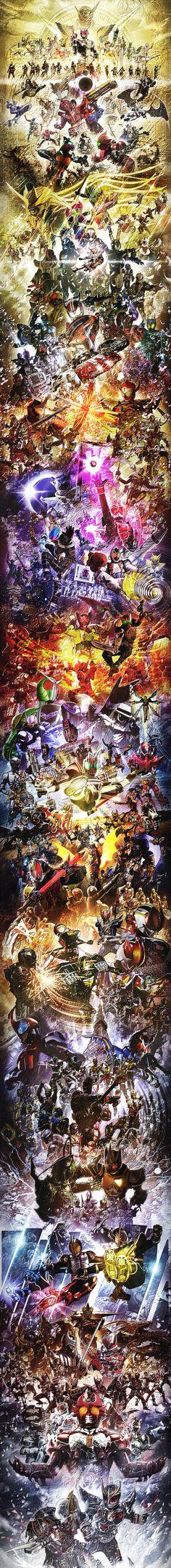 Kamen Rider All Heisei Generations by on DeviantArt Kamen Rider Decade, Kamen Rider Ex Aid, Kamen Rider Series, Wallpaper Earth, Sword Art Online, Power Rangers, Anime, Deviantart, Superhero