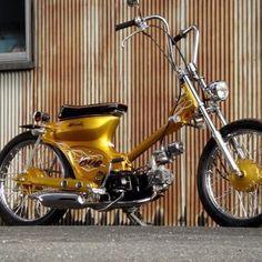 Choppy Cub Honda Cub, C90 Honda, Motos Honda, Honda Bikes, Honda Motorcycles, Scooter Motorcycle, Moto Bike, Scooter Custom, Custom Bikes
