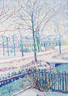 TREES IN ART L'ARBRE DANS L'ART | Wim Schuhmacher (Dutch, 1894-1986), Snowlandscape...