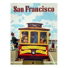 San Francisco Vintage Tourism Travel Art Postcard