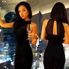 Fashion Slim Women's Sleeveless Sexy Strapless Mini Dress Party Cocktail Black  - http://pandorasecretsonline.com/fashion-slim-womens-sleeveless-sexy-strapless-mini-dress-party-cocktail-black-2/