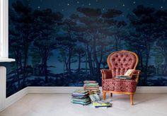 Hei,+katso+tätä+Rebel+Wallsin+tapettia,+The+Enchanted+Forest!+#rebelwalls+#Tapetti+#Kuvatapetit
