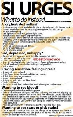 Self injury help