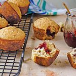 Jammin' Oat Muffins Recipe from Cooking Light (Sept 2014)