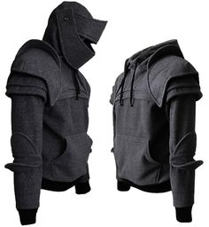 Dark Grey/Brown Duncan Armored Knight Hoodie100 by iamknight, $198.00