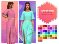 midnightskysims: As soon as I saw this dress I loved it. Sims 4 Cc Packs, Sims 4 Mm Cc, Sims Four, Sims 1, Maxis, Sims 4 Dresses, Sims4 Clothes, Play Sims, Sims 4 Cas