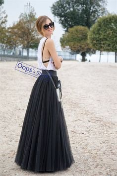 f82f58829f8a8 US  16.65 20% OFF NEW OOPS 100cm Muslim Maxi Long Skirts 2017 Spring 3  Layers Shirt Mesh Pleated Women Ball Gown Flared Tutu Tulle Skirts  141222-in Skirts ...
