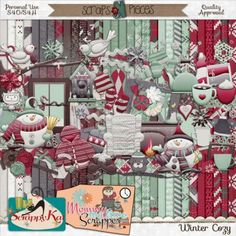 Enjoy winter with a steaming cup of cocoa or this equally delicious kit! Winter Cozy by The Scrappy Kat & Mommy Me Time Scrapper is a beautiful kit to scrap the warm winter moments with your loved ones.