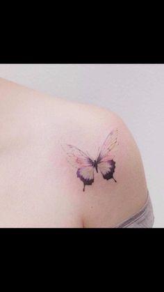 Butterfly Tattoo from Solitary Tattoo & Life Style Chiangmai Thailand Tattoo Hip Tattoos Women, Fake Tattoos, Mini Tattoos, Small Tattoos, Tatoos, Mother Daughter Tattoos, Tattoos For Daughters, Sister Tattoos, Thailand Tattoo