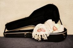 baby in guitar case | adorable, baby, cute, guitar, guitar case - inspiring picture on Favim ...