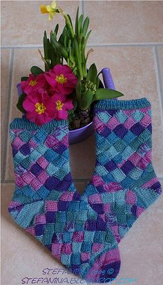 Entrelac Socks by Irish Clover