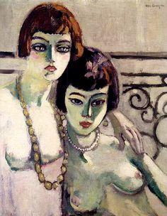 """Kees van Dongen """"Les Amies"""", 1922 (The Netherlands, Fauvism, cent. Henri Matisse, Raoul Dufy, Illustration Art, Illustrations, Art Friend, Van Gogh Museum, Dutch Painters, Dutch Artists, Art Graphique"""