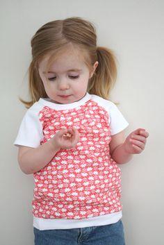 raglan tee tutorial - for girls and boys long sleeve option too: http://www.craftinessisnotoptional.com/2013/01/some-new-raglan-tees.html