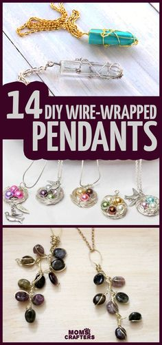 click if you want to learn how to wire wrap a pendant with fourteen beautiful easy wire wrapping tutorials for beginners!